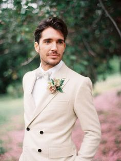 Garden Rose - Romantic Summer Garden Wedding Inspiration in Pink & Green - Groom And Groomsmen Style, Groomsmen Looks, Groom Looks, Groom Wear, Groom Outfit, Groom Attire, Groom Style, Groom Suits, Navy Suits