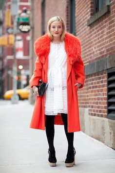 Love a bright coat -- the perfect way to make a statement when it's cold out.