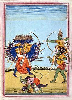 http://wiki-images.enotes.com/thumb/d/d7/Rama_and_Hanuman_fighting_Ravana,_an_album_painting_on_paper,_c1820.jpg/300px-Rama_and_Hanuman_fighting_Ravana,_an_album_painting_on_paper,_c1820.jpg