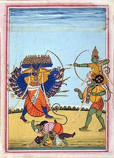 http://wiki-images.enotes.com/thumb/d/d7/Rama_and_Hanuman_fighting_Ravana,_an_album_painting_on_paper,_c1820.jpg/300px-Rama_and_Hanuman_fighting_Ravana,_an_album_painting_on_paper,_c1820.jpg