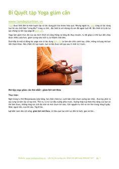 Bí quyết tập yoga giảm cân by Làm đẹp tự nhiên via slideshare