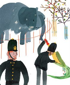 """Yasmeen Ismail's illustration for """"How to Catch an Elephant"""" by Emma Vans-Colina"""
