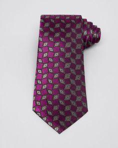 Armani Collezioni Diamond and Rhombus Classic Tie