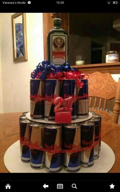 21st birthday cake. OMFG! I'd rather have straight Jäger for the entire cake! ;) It's better straight!