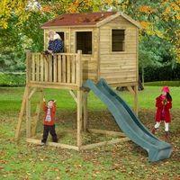 Plum Premium Wooden Adventure Playhouse with Slide