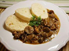 Recept Kuřecí žaludky se znojemskou příchutí - Naše Dobroty na každý den Beef, Cooking, Recipes, Food, Meat, Kitchen, Essen, Meals, Eten