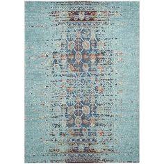 Dining room (6'7 x 9'2) $224  Safavieh Monaco Blue/ Multi Rug (6'7 x 9'2) - Overstock™ Shopping - Great Deals on Safavieh 5x8 - 6x9 Rugs