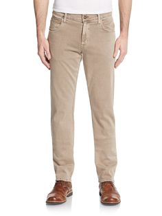 Hudson Jeans New Men's 'Blake' Slim Straight Leg Beige Pants Size 29x34 NWT $174…