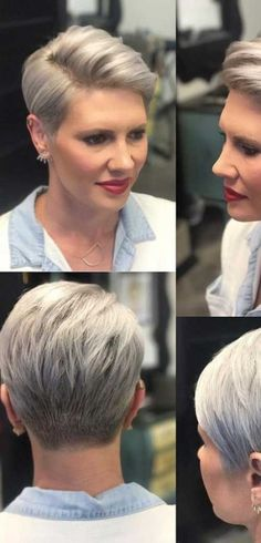 3 Talented Clever Hacks: Top Bun Hairstyles women hairstyles over 50 pictures.Women Hairstyles Over 50 Pictures women hairstyles over 50 popular haircuts. Short Pixie Haircuts, Pixie Hairstyles, Hairstyles With Bangs, Braided Hairstyles, Hairstyle Ideas, Choppy Haircuts, Pixie Bangs, Beehive Hairstyle, Asymmetrical Hairstyles