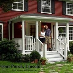 51 Trendy Colonial Front Door Ideas New England Colonial Front Door, Cottage Front Doors, Iron Front Door, Colonial Exterior, Colonial Style Homes, Small Front Porches, Front Porch Design, Pictures Of Porches, Portico Entry