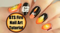 "BTS ""Fire"" Nail Art Tutorial - YouTube"