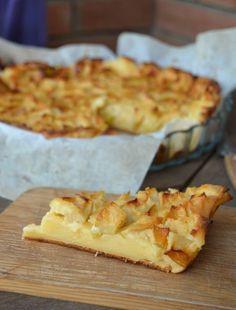 Tarta flan de manzana | Cocina Apple Desserts, Fall Desserts, Delicious Desserts, Dessert Recipes, Yummy Food, Flan, Mint Oreo, Deli Food, Healthy Sweets