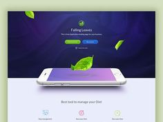 One Page App Landing page - Free giveaway designed by Kenny Ho for WooRockets. Connect with them on Dribbble; Landing Page Examples, App Landing Page, Landing Page Design, Tool Design, App Design, Motion App, Ui Inspiration, User Interface Design, First Page