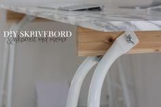 Lav selv et marmor skrivebord til under 1000 kr. Marble desk for the home office DIY at low budget
