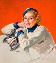 Vintage Winter Sports  illustration