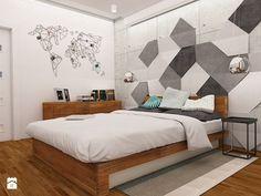 ciepły industrial - Sypialnia, styl industrialny - zdjęcie od Dekoncept