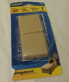 Shepherd hardware 2 inch adhesive furniture slider Stoppers 4 pack    eBay