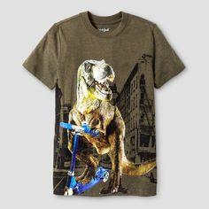 Boys' Dino City Graphic Short Sleeve T-Shirt - Cat & Jack Green Xxl