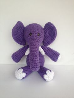 CUSTOM Crochet Elephant Stuffed Animal Made by YouHadMeAtCrochet, $36.50
