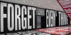 """Barbara Kruger """"Belief+Doubt"""" Exhibition at the Hirshhorn Museum in DC - Aug 2013"""