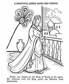 Ester Bible Story Coloring Page | BIBLE: ESTHER | Pinterest | Påsk ...