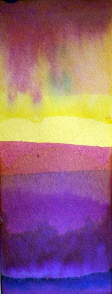 Dip-dyed Watercolour Landscapes - no brush required!