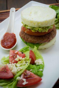 Prepara estas sensacionales hamburguesas de claras, hechas completamente de claras, muy ligeras y saludables.