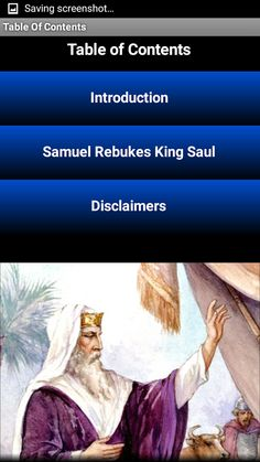 """This app contains Chapter 13 from the First Book of Samuel in the Bible (1 Samuel 13). In this chapter, the ancient Israelites are at war with the Philistines, and Prophet Samuel rebukes King Saul for his unlawful sacrifice and disobedience to God (YHWH or Yahweh). God also appoints Saul's successor, David, """"a man after His own heart"""". The text used is from the King James Version (KJV).  Who was Prophet Samuel? Samuel was a leader and prophet of ancient Israel in the Books of Samuel in the…"""