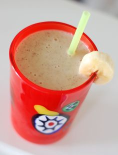 Peanut Butter Banana Smoothie...Use Peanut Butter & Co. Dark Chocolate Dreams instead of the plain peanut butter and you've got yummy!