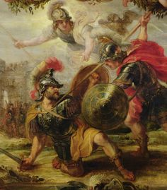 Painting of Achilles, aided by Athena, battling Hector.  This painting is another fresco by Peter Paul Rubens.  It was completed in 1630.  This painting shows again how strong of a fighter Achilles was, it also shows that the gods and goddesses were behind him and aided him throughout his life.