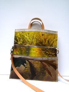this is from designsponge.com made here in the usa out in california..they are called bags from swarm