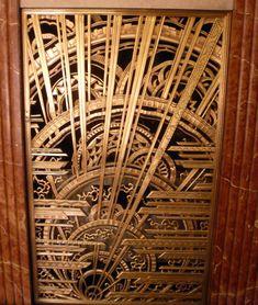 Art Déco - Chanin Building - Bronze - Rene Chambellan - Grille de Radiateur