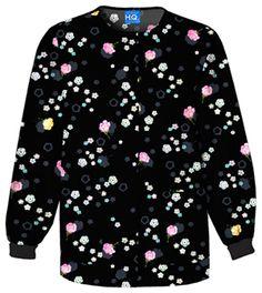 Cherokee Snap Front Warm-Up Jacket in Fleurettes Scrubs Uniform, Cherokee Scrubs, Medical Scrubs, Warm, Sweatshirts, Sweaters, Jackets, Store, Fashion