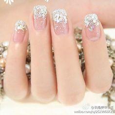 Wedding and Winter Nail art
