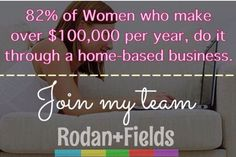 Message me about joining our inspiring team! Rodan+Fields is the fastest growing skin care company over the past 7 years! Currently ranked #4 and we are just scratching the surface! Get paid to wash your face and talk about it! AshWright.myrandf.com