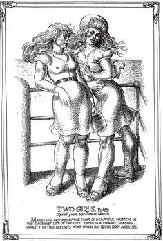 "Robert CRUMB 1996 - ART & BEAUTY MAGAZINE #1 - ""… the sight of beautiful women…"" Robert Crumb, Gilbert Shelton, Fritz The Cat, Comic Art, Comic Books, Linear Art, Alternative Comics, Washington Usa, Adult Cartoons"