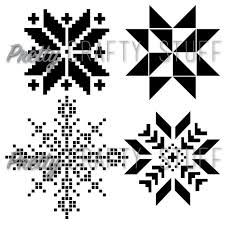 Cut file - Nordic Stars SVG and PNG file for electronic die cut machines,