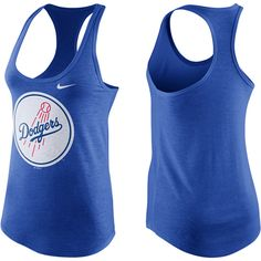Los Angeles Dodgers Nike Women's Team Colored Circle Logo Tank Top