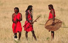 De Masai in Kenia