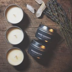 Moon Goddess & WoodWitch Soy Candles Artisanal Small Batch Hand Poured in New England Soy Candle Twin Pack