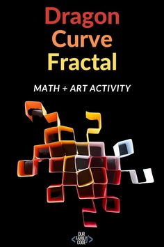 Learn about dragon curve fractals and how to make dragon curve fractal art with this awesome STEAM activity! #STEM #STEAM #mathart #fractalart #elementarySTEAM #homeschool Steam Activities, Fun Activities For Kids, Science Activities, Math For Kids, Fun Math, Creative Teaching, Teaching Kids, Fractal Art, Fractals