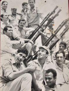 عدد من جنود الدفاع الجوي ضمن الفرقة ١٨ مشاة المسئولة عن تحرير القنطرة شرق. ١٩٧٣م.