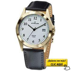 Atrium Reloj de hombre correa de piel Cristal de... #reloj #hombre