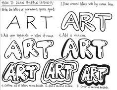 Cassie Stephens: In the Art Room: Sketchbook Covers Sketchbook Prompts, Sketchbook Cover, Sketchbook Drawings, Art Drawings, Graffiti Names, Graffiti Lettering, Creative Lettering, Hand Lettering, Back To School Art