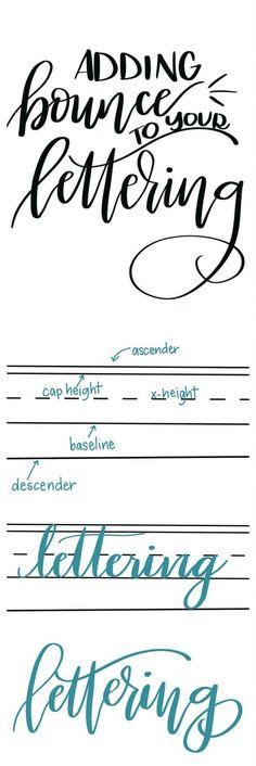 Bounce Lettering
