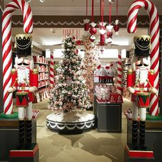 "MACY'S, Herald Square, New York, ""Xmas trees, candy canes and nutcrackers, oh my! 'Tis the season to be Jolly', pinned by Ton van der Veer"