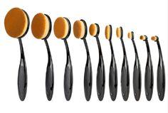 Oval Makeup Brushes Set Beauty Foundation Curve Toothbrush Make Up Brush for Blush Powder Eyeshadow Eyeliner Facial Tools Makeup Goals, Makeup Tips, Beauty Makeup, Beauty Tips, Makeup Tutorials, Eyeliner, Eyeshadow, Setting Powder, Makeup Products