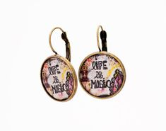 Inspirational Earrings Boho Positive Thoughts Bohemian Gift