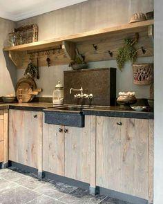 Landelijke steigerhouten keuken