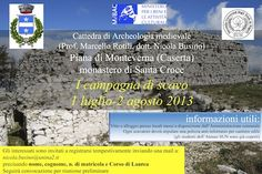 I campagna di scavo sul Monte Santa Croce 2013 Locandina